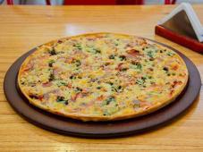 Pizza de espinaca cheese