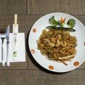 Pasta Pad Thai con marisco