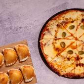 10% OFF - Pizza mozarella + empanadas (6 uds.)