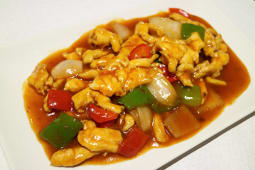 64. Pollo con salsa picante