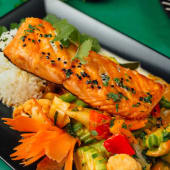 Salmon in Red Curry
