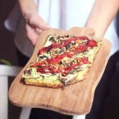 Pizzeta de verduritas (vegetariano)