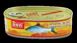 Peixe e feijão preto conserva 207g