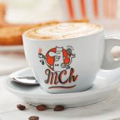 Vaso de café con leche