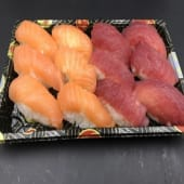 Bandeja nigiri salmón y atún (12 uds.)