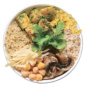 Tazón de arroz pesto