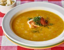 Суп гороховий з копченими ребрами (420г)