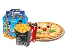 Детская пицца + фри + напиток на выбор + маленькая игрушка