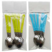 Colored Disposable Tableware Spoon Set (6Pcs)