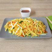 Chow mein grill wok s piletinom, povrćem i curryjem