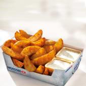 Cartofi wedges cu sos la alegere