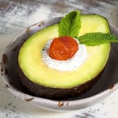 1/2 Aguacate con topping