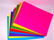 Papel Iris 80Grs A4 Colores Fluorescentes Pqx10Hjs