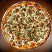 Pizza mushroom and parsley