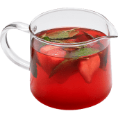 Черный чай с клубникой и мятой
