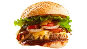 Бургер з подвійною курячою котлетою та беконом (320г)