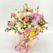 Aranjament flori pastel