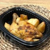 Ración de pollo al horno (muslo)