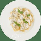 Равиоли с семгой в сливочном соусе