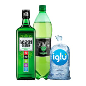 Passport 700 Ml + Evervess 1.5 Lt + Hielo 1.5 Kg