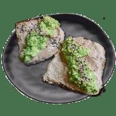 Tostada Hummus, Aguacate y Sésamo