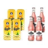 4X Ciuc Radler Lamaie si Lime 1.9% alcool +4X Strongbow Rose