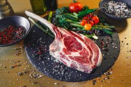 Tomahawk bone in steak