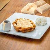 Waffle con cioccolato biancofuso