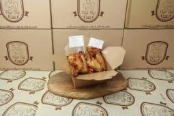 Alette di pollo fritte marinate al bbq