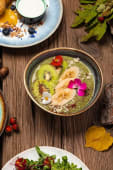Найкорисніша зелена кашка з насіння чіа і льону (280г)