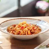 Spaguetti peperoncino con langostinos