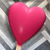 Paleta corazón de frutilla
