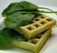 Waffles congelados de espinaca