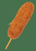 ქორნ დოგი ყველით და მოცარელათი