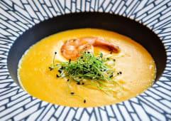Крем-суп із креветок