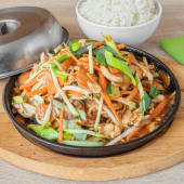 Tie Pan piletina s povrćem, riža