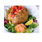 Картопля зі слабосолоною сьомгою (від 550г)