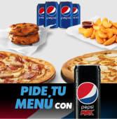 Combo para 4 (2 pizzas medianas + 1 complemento + cookies + 4 bebidas)