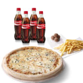Menú familiar (pizza familiar + 4 bebidas 500 ml.)