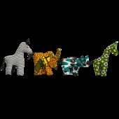 Set of Kitenge Animals