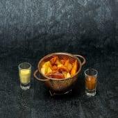 Dúo de bravas (Patata y boniato)