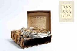 2 knot bracelet - silver (thick)