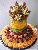 Corbeille de fruits sculptés sur mesure pour les fêtes de fin d'années !