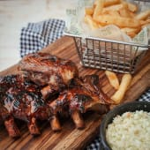 Costillas originales en Salsa BBQ (1/2 rack)