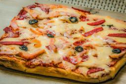 Піца Салямі з шинкою