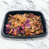 Wok de pollo con vegetales y arroz
