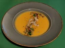 Мандариново-гарбузовий крем-суп з імбирем та міксом насіння (370г)