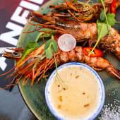 Креветки гриль із рибним соусом (за 100г)