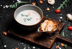 Сливочный суп с кониной