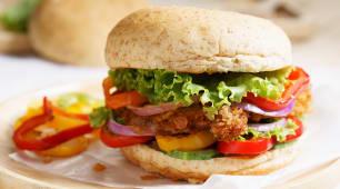 Crispy Chicken Bacon Cheese Burger Bbq